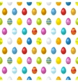 Bright colourful easter eggs on white seamless vector image