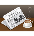 Coffee Cup Newspaper and Ideas symbols vector image