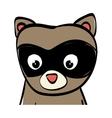 cute raccoon cartoon vector image