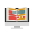 e-learning digital design vector image