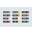 Modern flat design website navigation buttons vector image