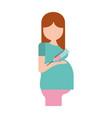 pregnant woman avatar character vector image