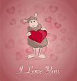 sheep withe the heart vector image