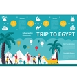 Trip To Egypt infographic flat vector image