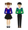 Children with schoolbags vector image