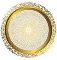 Gold and white vintage round isolated frame vector image