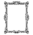 Retro antique baroque border frame with scroll vector image vector image
