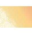 Glowing doodle shapes horizontal background vector image