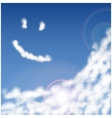 blue sky with clouds closeup vector image