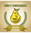 Organic Pear vector image