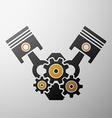 Logo engine Stock vector image