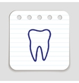 Doodle Tooth Icon vector image