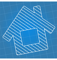 Blueprint house vector image
