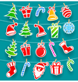 background with christmas icons vector image
