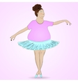 Fat and funny ballerina vector image