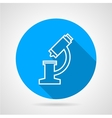 Flat blue icon for microscope vector image
