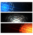 futuristic technology banner set vector image