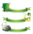 Hat horseshoe and pot with gold vector image