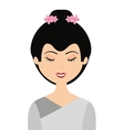 japanese woman isolated icon design vector image