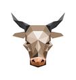 Origami bull vector image