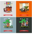 set of family concept design elements in vector image