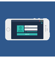Web Template of Smartphone Login Form vector image