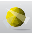 yellow globe modern geometrical background vector image