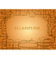 steampunk frame vector image