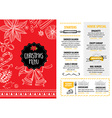 Christmas party invitation restaurant Food flyer vector image