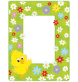 Border with a chick vector image