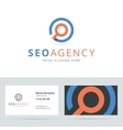 SEO agency logo and business card template vector image