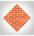 Romb made of bricks vector image vector image