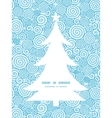 abstract swirls Christmas tree silhouette pattern vector image