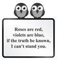 Cannot stand you Poem vector image