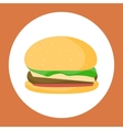 Chicken Burger Isolated vector image
