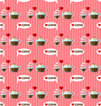coffee cup and coffee kettle seamless pattern vector image