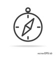 compass outline icon black color vector image