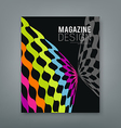 Cover magazine abstract butterfly design vector image