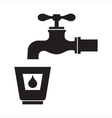 Drinking Water Icon vector image