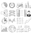 Infographic elements icons set cartoon style vector image