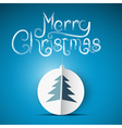 Merry Christmas theme on blue background vector image