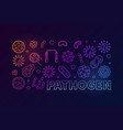 pathogen colored creative horizontal vector image