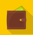 purse pay icon flat style vector image