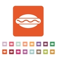 The hot dog icon Sandwich and baking fast food vector image
