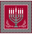 Holiday jewish background vector image