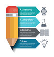 infographic education and pencil graphic vector image