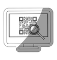 Isolated qr code and computer design vector image