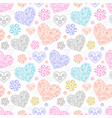 abstract colorful hearts vector image