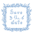 Save the date flower frame vector image vector image