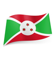 State flag of Burundi vector image